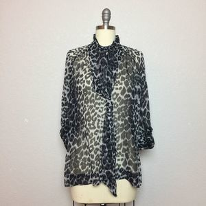 •New York & Company• Leopard Blouse